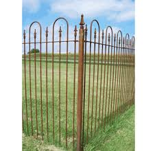 Square Wrought Iron Fence Post Cast Iron Top
