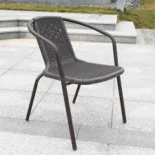 plastic rattan chair stool balcony