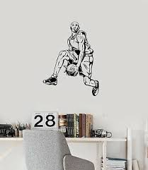Vinyl Wall Decal Basketball Player Sports Decor Fans Boys Room Stickers Ig1754 682017290249 Ebay