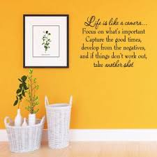 Life Is Like A Camera Focus On What S Important Capture The Good Times Develo Wall Decal