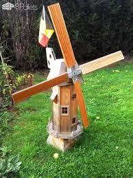 garden windmill from wooden pallets