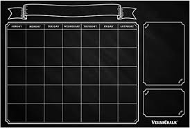 Amazon Com Huge Dry Erase Chalkboard Calendar For Wall By Versachalk 24 X 36 Vintage Erasable Calendar For Wall Rustic Black Chalkboard Wall Calendar Decal For Classroom Chore Chart For Kids Arts Crafts