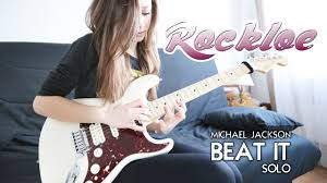 Eddie Van Halen - Beat it solo (Cover by Chloé) - YouTube