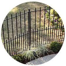 Metal Pool Fence Lowes Vinyl Fencing Wood Fencing Gates And More Shop No Dig Powder Coated Black Steel Fence Gate Common Veranda Linden 6 Ft H X 8 Ft W White Vinyl