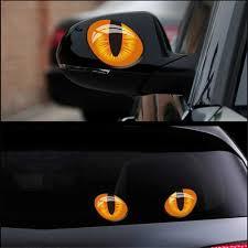 3d Cute Cat Eyes Car Sticker Pet Clever