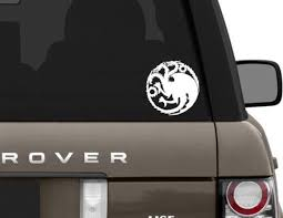 House Of Targaryen Decal Game Of Thrones Decal Car Decal Etsy