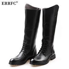 fashion designer black long knee boots