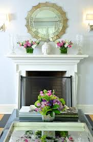 mirror above fireplace contemporary