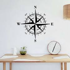 Compass Wall Decal Vinyl Sticker Nautical Wall Art Deco Oriented North South West Nursery Kids Room Wall Sticker U842 Wall Stickers Aliexpress