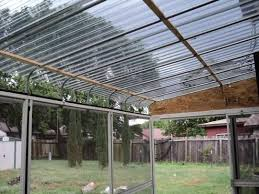 gray polycarbonate corrugated roof