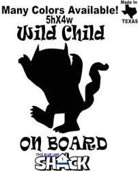 Wild Child On Board Vinyl Decal Baby On Board 5x4 Sticker Kids Animal Wild Thing Ebay