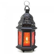 moroccan lantern large yellow glass