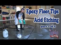 floor acid etching step 1 to