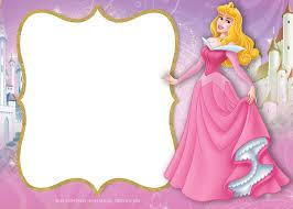Free Printable Princess Aurora Sleeping Beauty Invitation