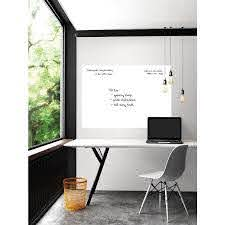 Wallpops White Giant Dry Erase Decal In The Wall Decals Department At Lowes Com