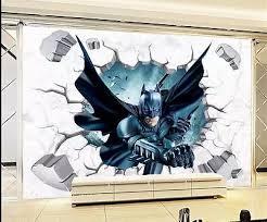 3d Througn Wall Batman Wall Sticker For Kids Nursery Children Room Cartoon Home Decor Wall Art Pvc Break Wall Decal Boy S Gift Batman Wall Sticker Wall Stickers For Kidswall Sticker Aliexpress