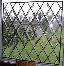 full beveled diamond stained glass