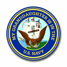 My Granddaughter Is In The Navy Vinyl Transfer Decal