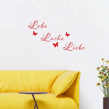 German Quotes Live Laugh Love Wall Decal Removable Art Vinyl Wall Sticker Room Decor Room Decoration Vinyl Wall Stickerswall Sticker Aliexpress