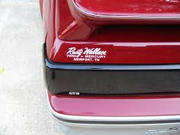 I Found An Old Rusty Wallace Ford Mercury Dealership Sticker And Put It On My Mustang To Make It Look Like I Bought It From Him Nascar