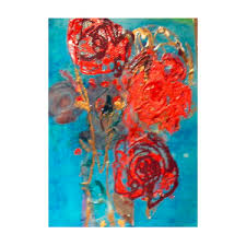 Anatomy of a Bouquet- Roses Mixed Media by Myrna Brooks Bercovitch