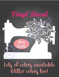 Floral Sewing Machine Decal Sewing Decal Craft Room Decal Etsy