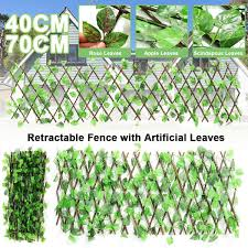 Home Decor Greenery Wall Expandable Artificial Ivy Leaf Privacy Backyard Fence Wish