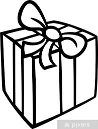 Sticker Kerst Cadeau Kleurplaat Pixers We Leven Om Te Veranderen