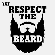 Yjzt 12 7cm 16cm Fun Respect The Beard Vinyl Car Sticker Decal Black Silver Graphical C11 2108 Car Stickers Aliexpress