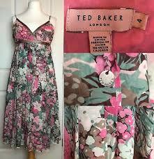 ted baker pastel fl silk dress bnwt