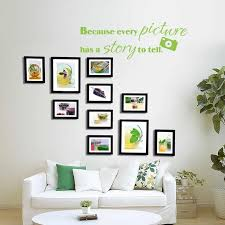 Because Every Picture Has A Story To Tell Family Wall Quote Room Decal Picture Collage Decal 46 X16 Wall Quotes Picture Collagefamily Quotes Aliexpress
