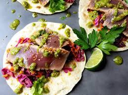 Marinated Ahi Tuna Tacos with Asian ...