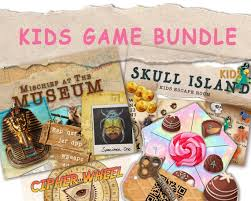 Escape Room Game For Kids Chocolate Factory Museum And Skull Etsy