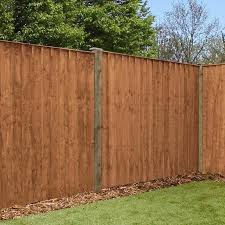 5ft X 6ft Featheredge Pressure Treated Fence Panel One Garden