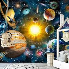 Kids Bedroom Universe Planets Wall Mural Gallery Wallrus Free Worldwide Shipping