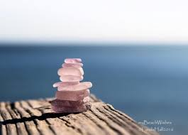 sea glass cairn peaceful wall art