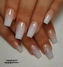 trendy coffin acrylic nails design