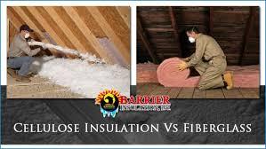 cellulose insulation vs fiberglass