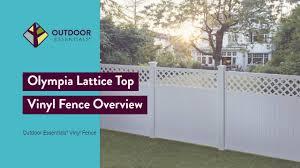 Olympia Lattice Top Vinyl Fence Youtube