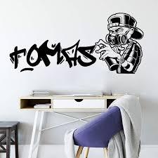 Personalized Name Graffiti Street Wall Sticker Nursery Boy Room Custom Name Graffiti Wall Decal Bedroom Kids Room Vinyl Decor Wall Stickers Aliexpress