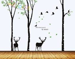 Tree Wall Decal Forest Vinyl Sticker Large Nursery Wall Decal Etsy Forest Wall Decals Wall Decor Decals Bird Wall Decals