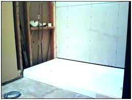 prefab shower stall tile remarkable pan