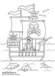 Piratenkleurplaten Kleuteridee