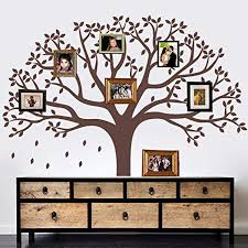 Giant Family Photo Tree Wall Decal Removable Wall Stickers For Baby Kids Room Decor Color Brown Vi Tree Wall Decal Family Tree Photo Removable Wall Stickers