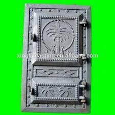 cast iron stove double door