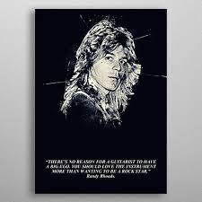 randy rhoads quote sport poster print metal posters displate