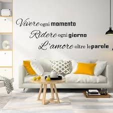 Italian Live Laugh Love Quote Wall Sticker Bedroom Kids Room Italy Family Love Quote Wall Decal Living Room Vinyl Art Wall Stickers Aliexpress