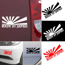 Jdm Rising Sun Made In Japan Car Sticker Decal Motorcycle Car Stickers 3 Colors Ebay
