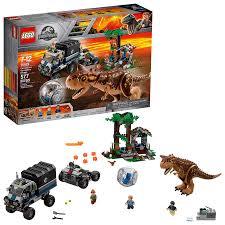 LEGO Jurassic World Carnotaurus Gyrosphere Escape 75929 Building ...