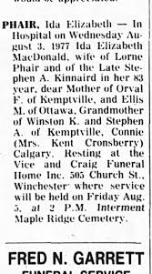 Ida McDonald - wife of Stephen A. obituary - Newspapers.com